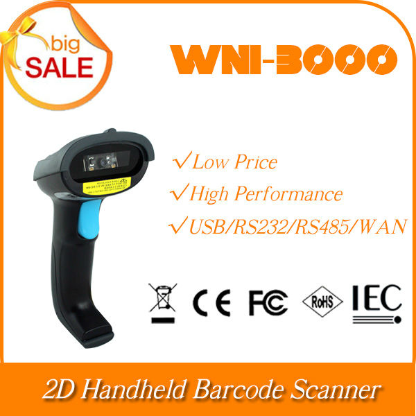 Customized Portable WNI-3000-S10 2D Image Handheld tablet pc function of QR Bar Code Scaner barcode Reader USB Port
