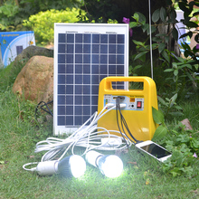 High efficiency 10w solar system suitcase solar lighting system,High efficiency 10w solar system suitcase