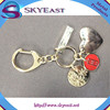Promotional Heart Shape Key Holder with Enameled Charms and Hooks