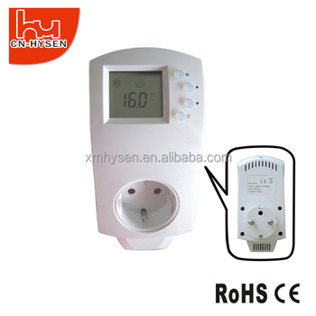 Control temperature electronic EU plug in thermostat