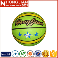 HB002 12 panel official size 7 outdoor rubber basketball ball