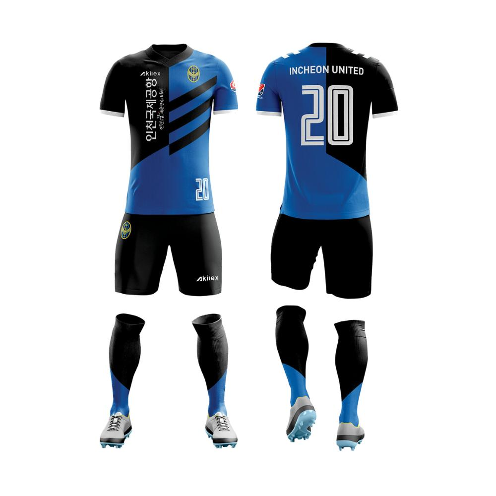Custom team wear club voetbalshirt voetbal uniform sets voetbal jersey met korte mouwen
