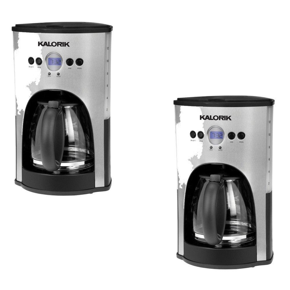 Get Quotations · KALORIKÂ Stainless Steel/Black 12-Cup Programmable Coffee  Maker - KALORIK Model - CM