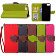 New Arrival Leaf Pattern Flip Leather Case for iPhone 8,for Apple iPhone8 Case