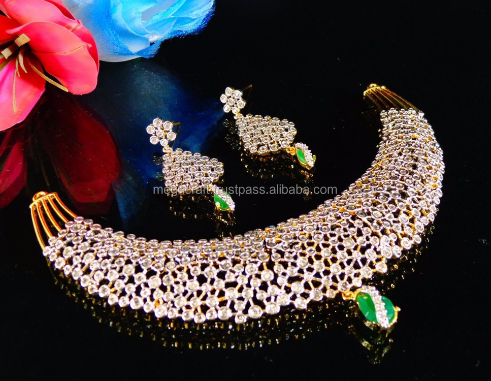 Bollywood Fashion Bridal Jewellery Set Indian Polki Bridal