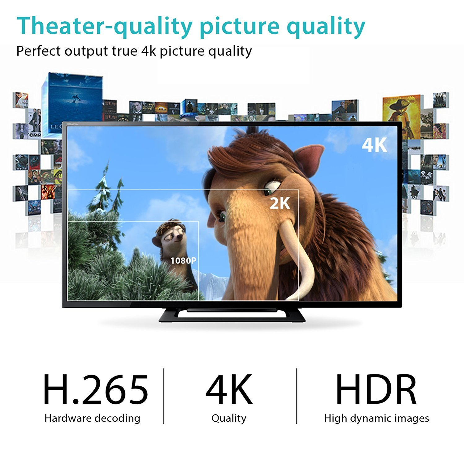Kingsring vendita caldo Android 7.1 smart tv box H96 pro plus 3 gb 32 gb amlogic s912 octa core android tv box H96 pro +