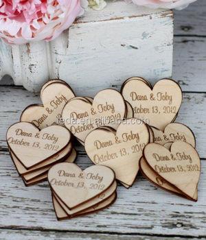 Personalisierte Holz Herz Tisch Dekorationen Vintage Rustikale