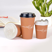 Wholesale Biodegradable Disposable Recycled Double Single Wall Coffee Hot Drinking Paper Cup With Lid
