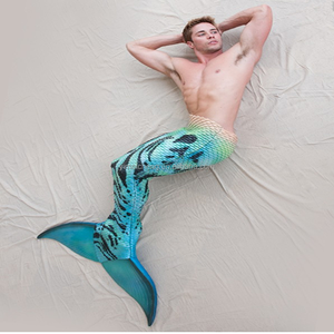 Men Printing Mermaid Tail For Swimming