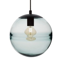 contemporary incandescent luminaire hand blown globe modern decorative glass pendant light