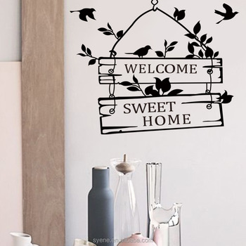 home interior wallpaper 3d vinyl wall art stickers quotes welcome