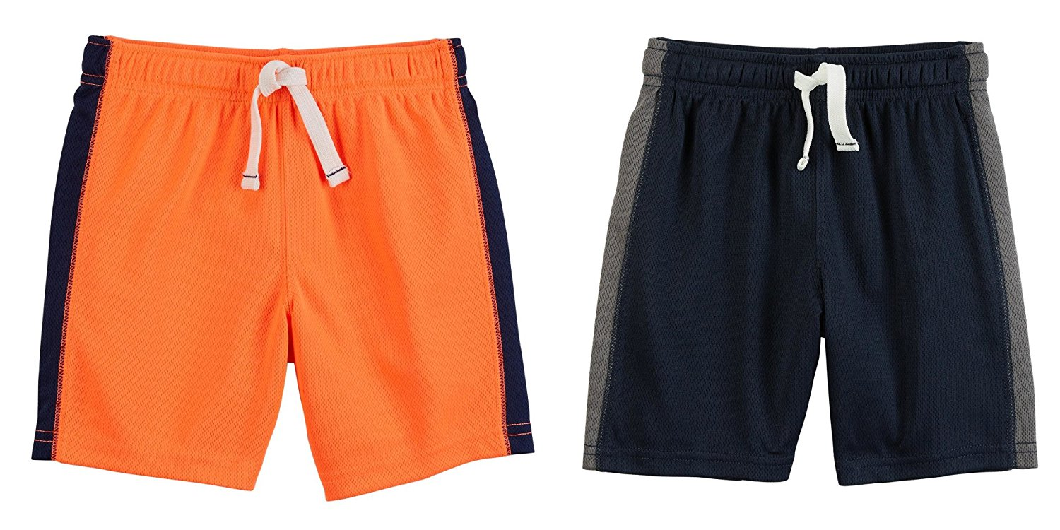 dd71f7122f30 Get Quotations · Carter s Set of 2 Boy s Active Mesh Pull On Sports Shorts  Toddler Little and Big Boys