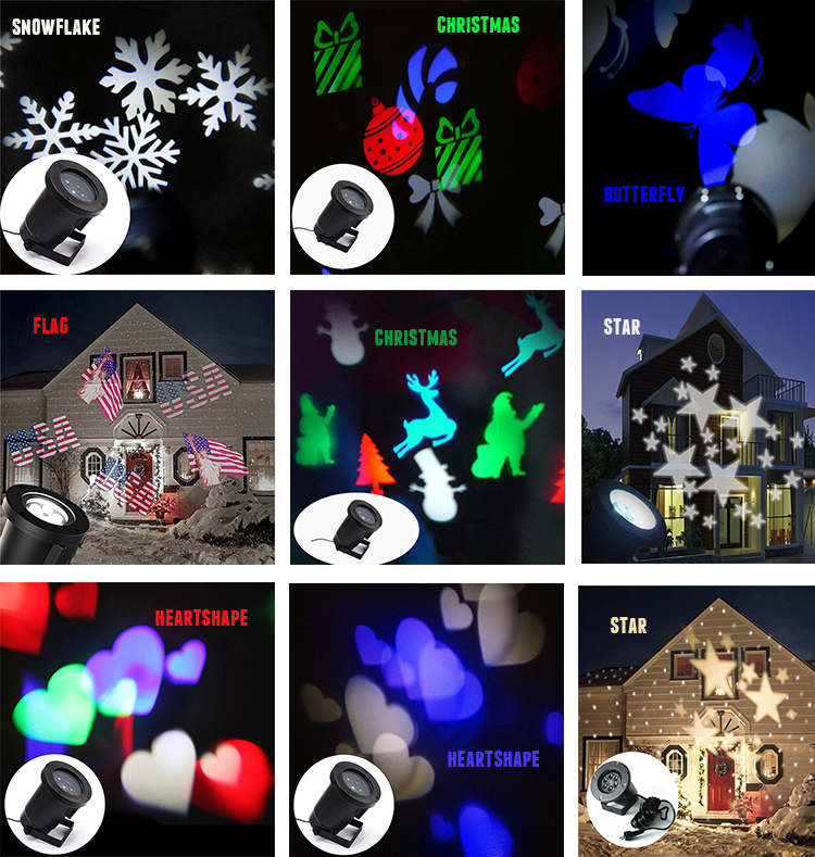 Led Outdoor White Snowflake Laser Light
