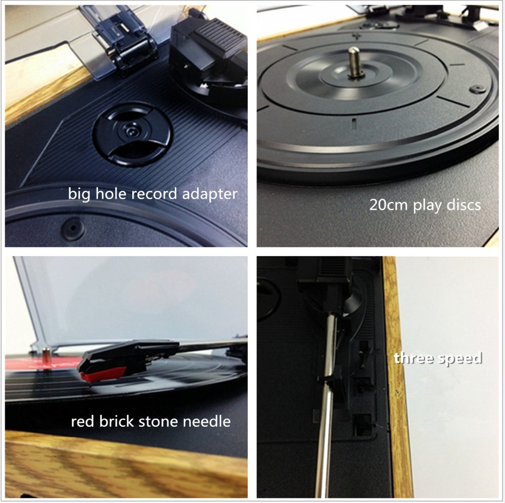 Rain Lane 3 speed Turntable With Cd Cassette Sd Card Usb AM FM Radio USB Turntable CD Player