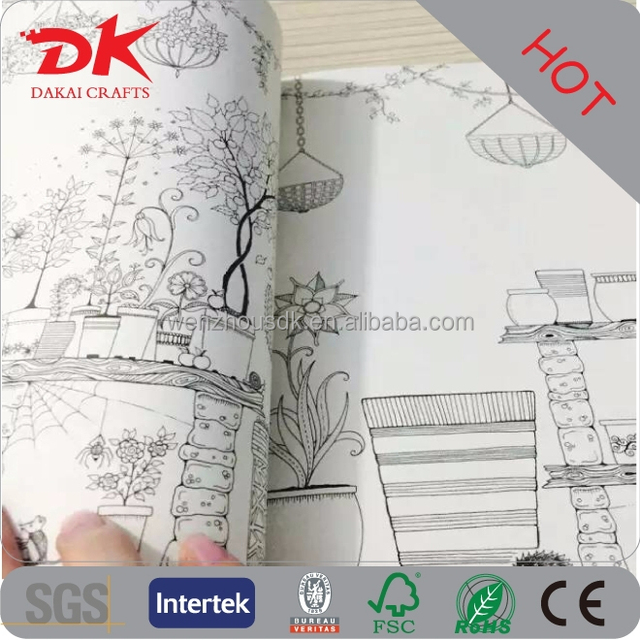 Cheap Blank Filling Coloring Books Of My Secret Garden Designs