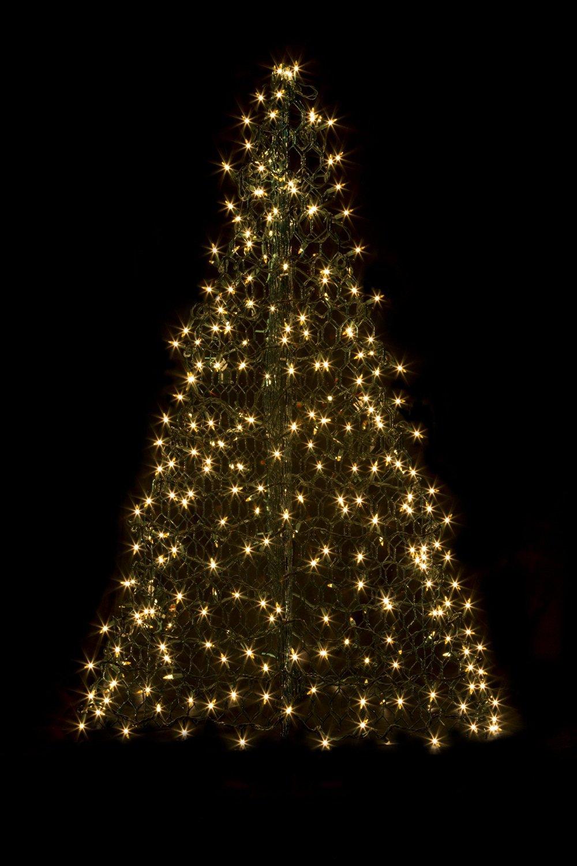 5' Crab Pot Tree w/350 Mini Lights - Clear