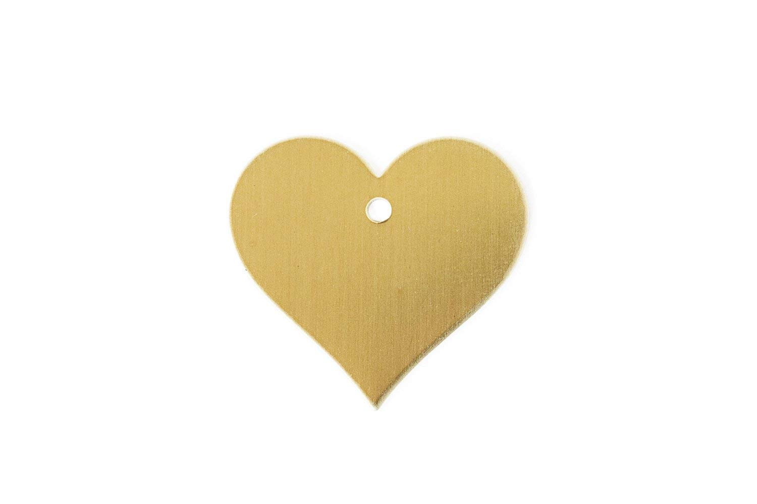 "RMP Stamping Blanks, 1.151"" x 1.25"" Heart With Hole, .032"" (20 Gauge) Brass - 20 Pack"