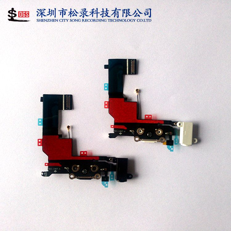Original Charging flex cable headphone Audio Jack USB port dock connector flex cable for iphone 5s