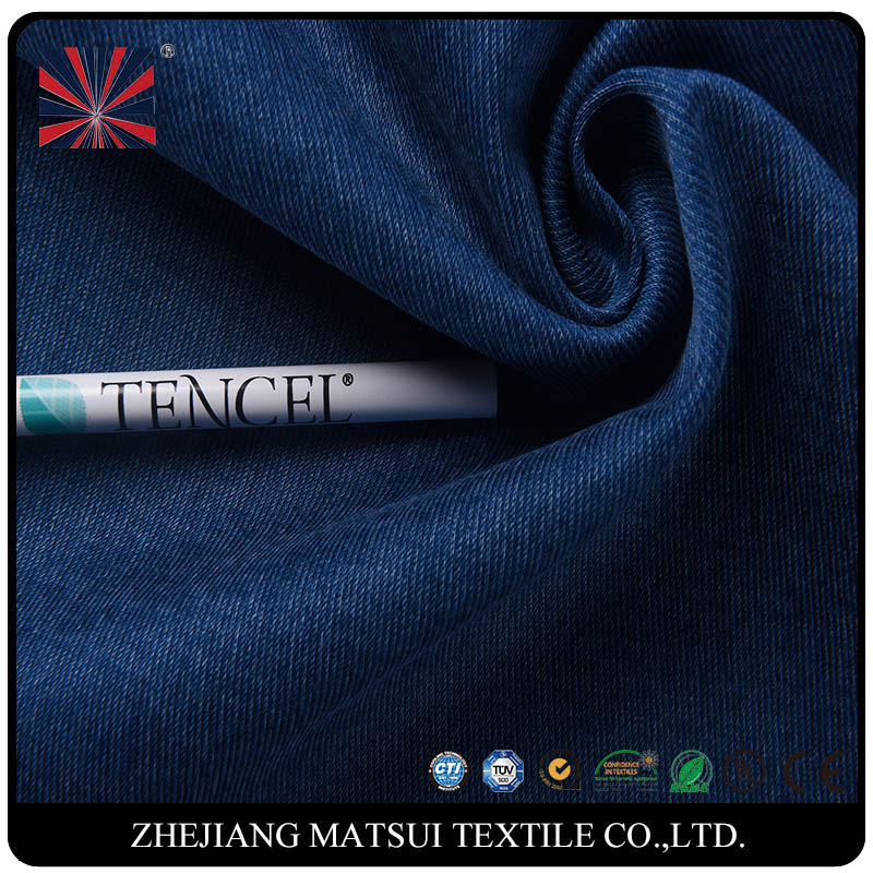 lyocell cotton polyester knitted denim fabric from alibaba china
