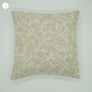 High Quality Natural Linen Pillows Handmade Jute Fabric Cushion