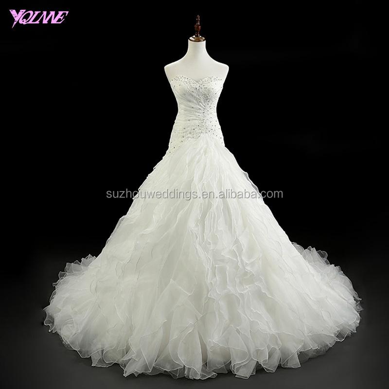 2ea2b86ad مصادر شركات تصنيع الكشكشة أثواب فساتين الزفاف الأورجانزا والكشكشة أثواب فساتين  الزفاف الأورجانزا في Alibaba.com