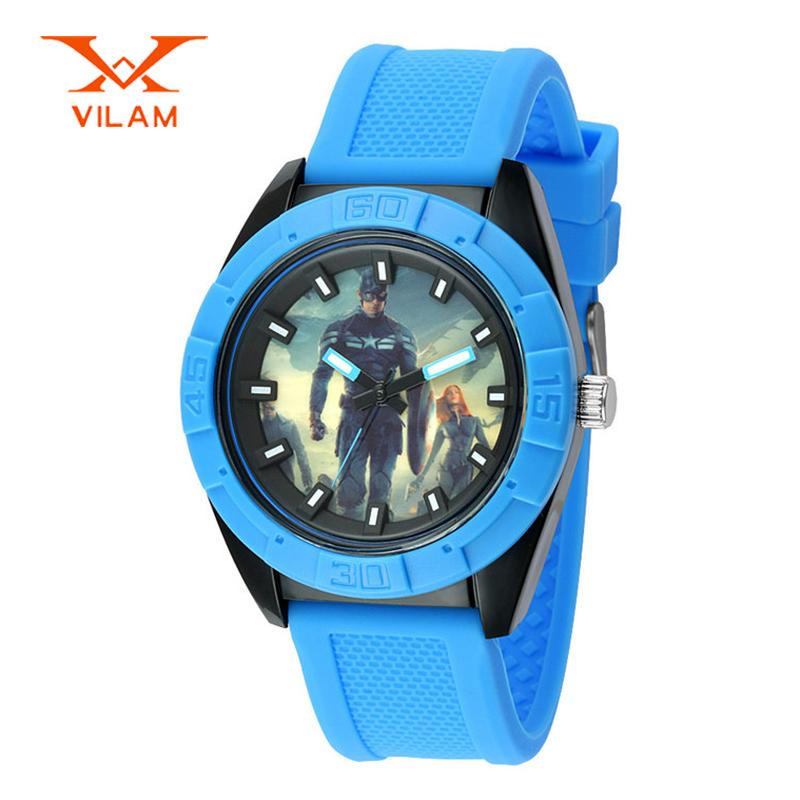 VILAM brand school student silicone watches fashion children quartz watch casual kids wristwatch cartoon boys relogio VL15006A