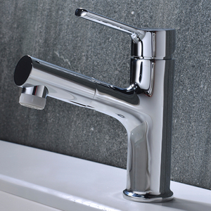 Professional customized brushed nickel color basin furniture wash mixer faucet