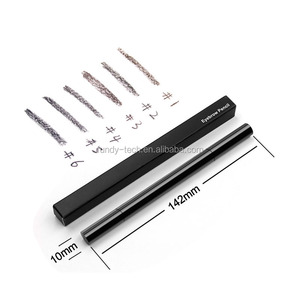OEM Waterproof gray eyebrow pencil with brush 5 color private label eyebrow pencil double heads