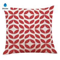Nordic style red geometry printed cushion covers ready to ship