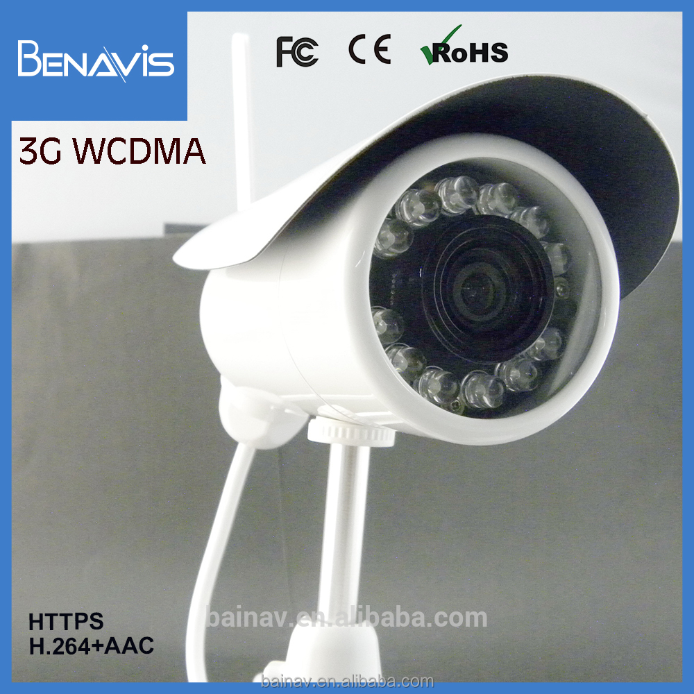 HTTP Web 12 Volt Sim Card Based Cctv Live Outdoor 3g Camera