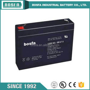 price of lead acid battery 6v 7.5ah power battery charger battery for home alarm