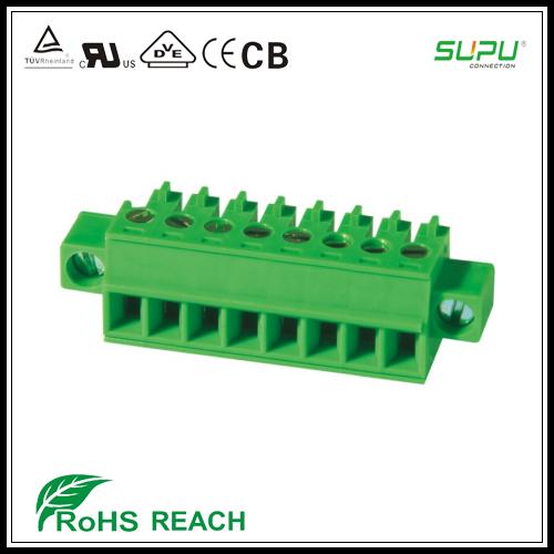 Terminals 20 Stücke 2 Pin Schraube Blau Grün Leiterplattenklemme Stecker 5mm Pitch