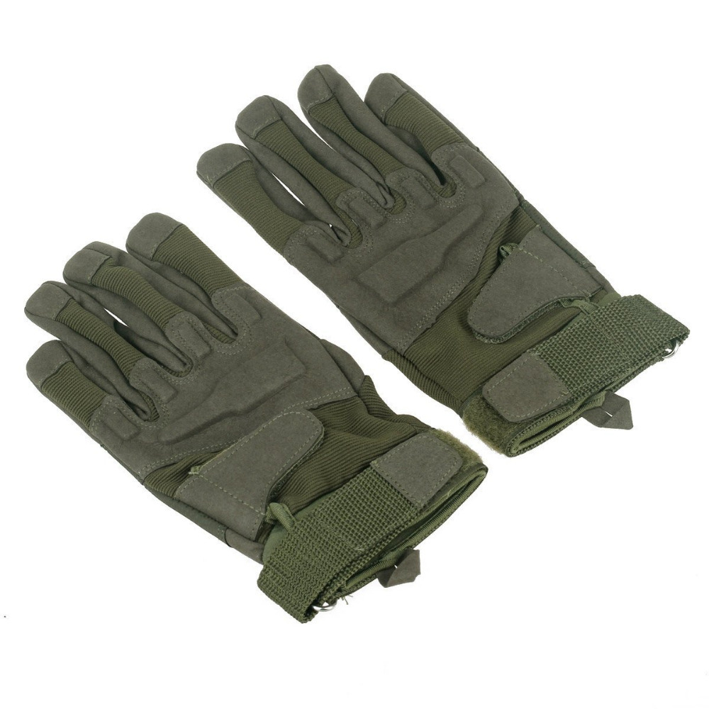2015 Fashion Stylish Men Outdoor cycling racing Warm Full-Finger Gloves Army Green guantes ciclismo gift Free Shipping