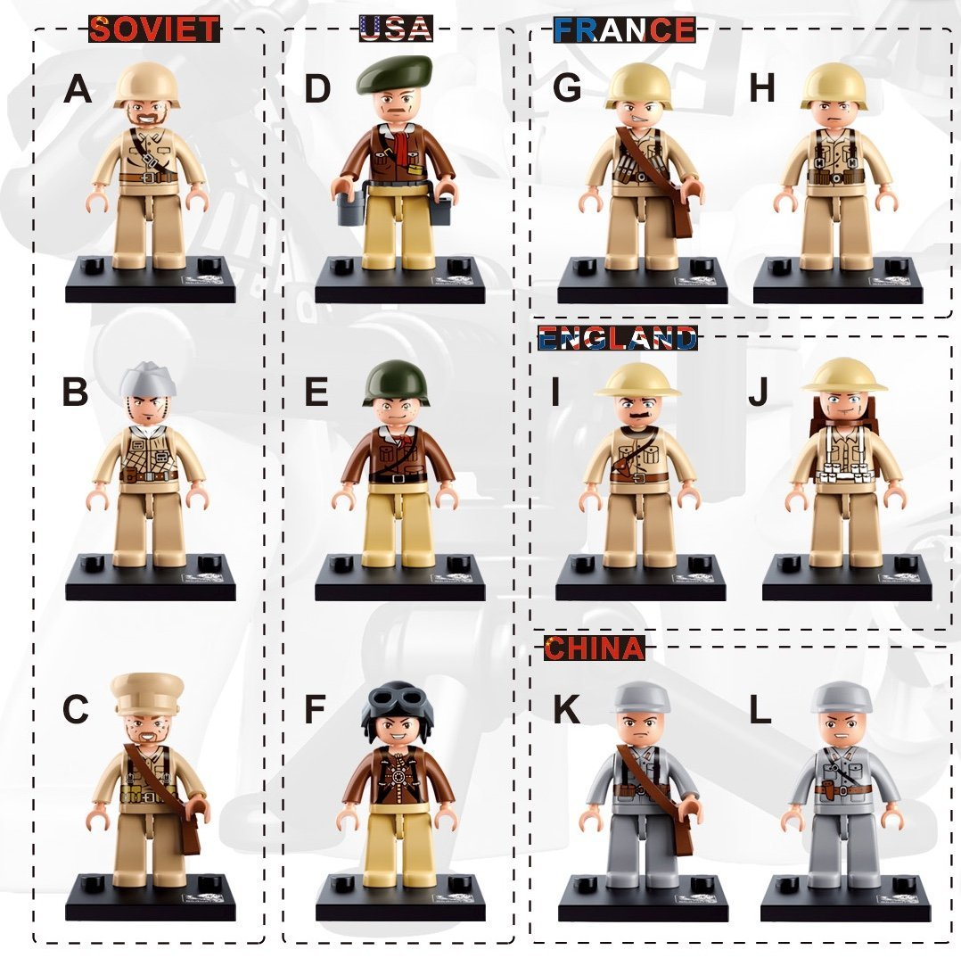 Buy Skyoos Inc  LEGO Military Mini Figures Collection - Set
