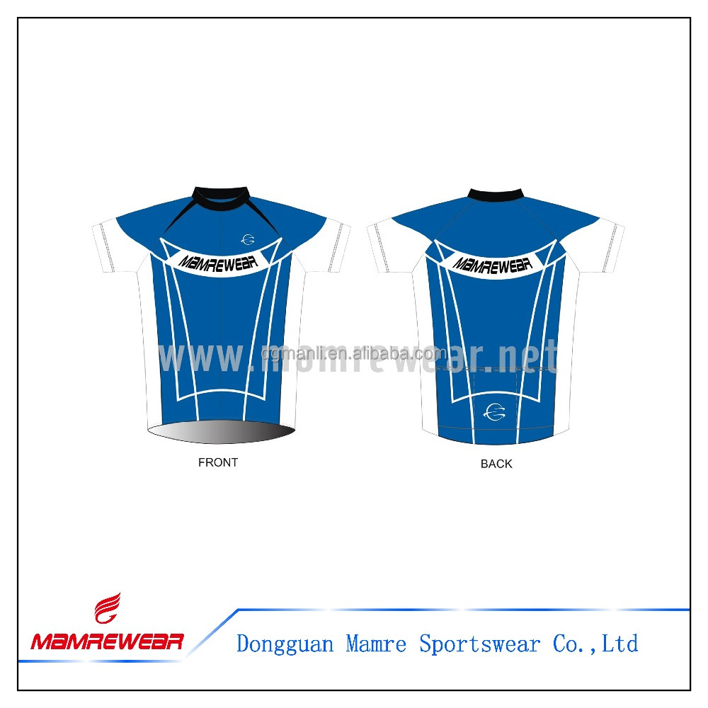 2017 recent children small cut blue cycling bike jersey,factory OEM custom cycling shirt for kid