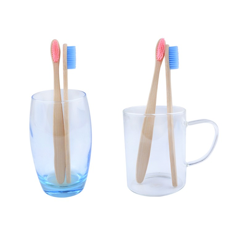 100% Biodegradable Bamboo Handle Wooden Toothbrush