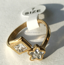 Gold Colour Rings Cuff Nail Ring Simple Style For Women Accessories