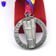 Malaysia custom bamboo theme fun run sports finisher medals metal military medal ribbon drape with cut out design
