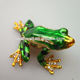Beautiful Colorful Metal Frog with imperial crown home table decor with solar light