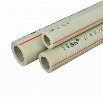 grey color ppr pipe type 3 with fitting hot sales pn 25 plastic water supply ppr pipe size