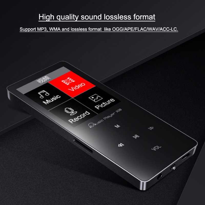 IQQ 8GB touch button X09 mp3 player bulk buy from china