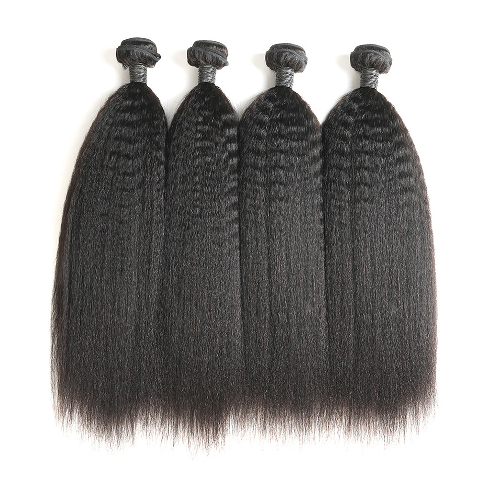 High quality cuticle aligned wholesale cheap brazilian virgin remy weave human extensions kinky straight hair