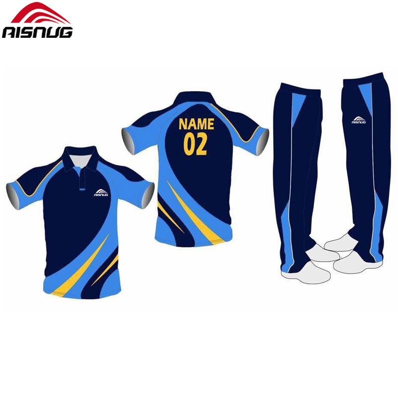 8dc42c7d30594e new model cricket jersey pattern customize design uniforms cricket kits  sublimation