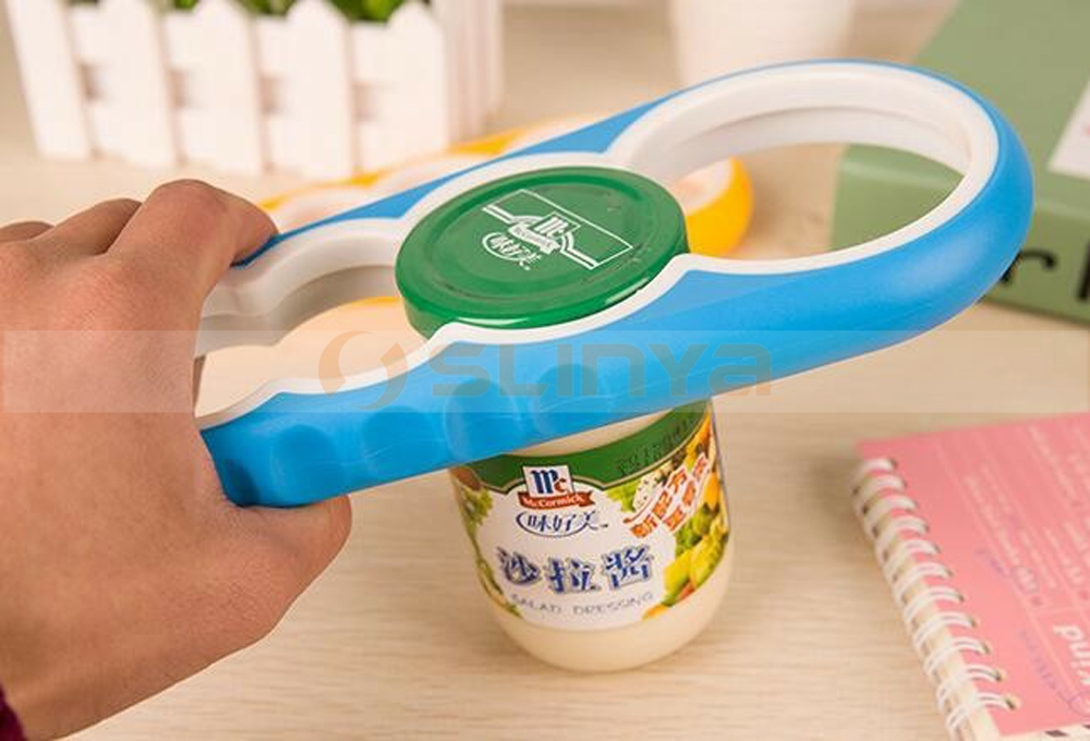 Fashion Screw Cap Jar Bottle Wrench 4 in1 Creative Multifunction Can Opener