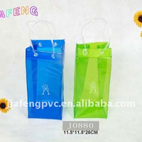 Popular Transparent PVC Ice Bag for Wine/Beer Packing