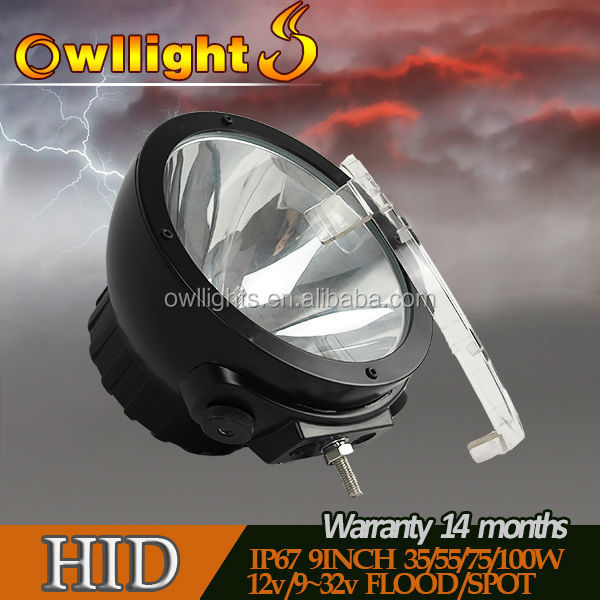 High Power 55W/75W/100w 9 Inch HID Off Road Light 9inch, Auto Offroad Light 100w HID Spotlight
