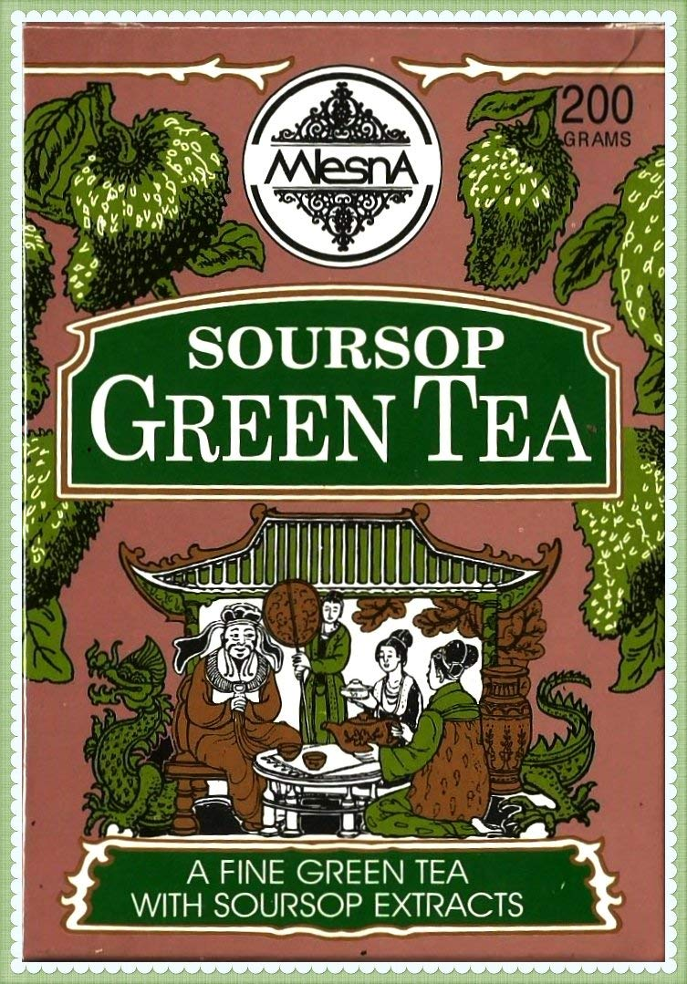 Mlesna Pure Ceylon Soursop Green Tea Graviola Loose Tea Boxes. (200g (7.05))
