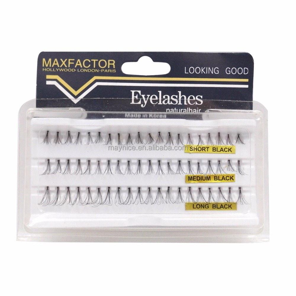 Human hair flare eyelash by hand made multiple eyelash extension 1127