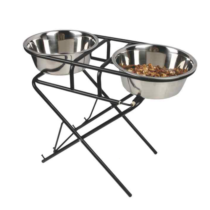 Al por mayor elevado ajustable Pet Dog Bowls alimentador