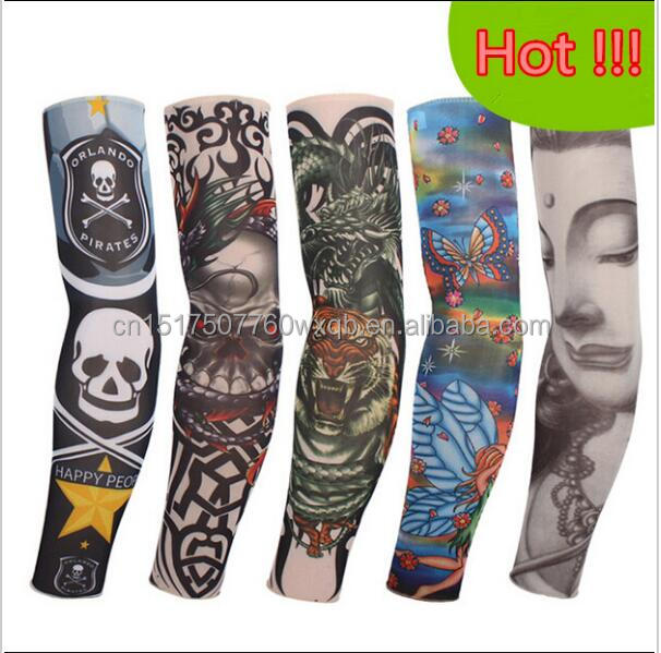<strong>cycling</strong> Tattoo sleeves halloween 5pc kit collection long arm Fake tattoo glove Sunscreen harajuku sleeves